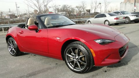 low miles 2017 Mazda MX 5 Miata Grand Touring repairable for sale