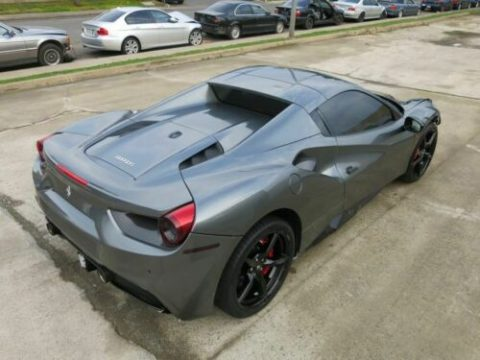 low miles 2016 Ferrari 488 Spider 3.9L V8 repairable for sale