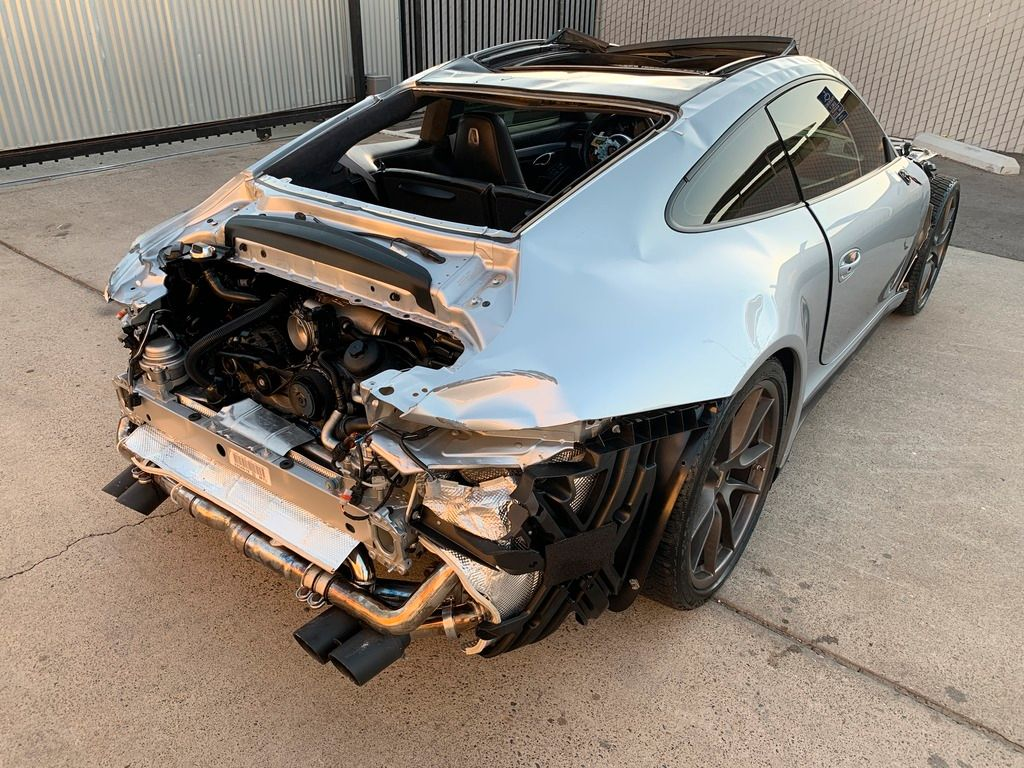 low miles 2015 Porsche 911 4S AWD repairable