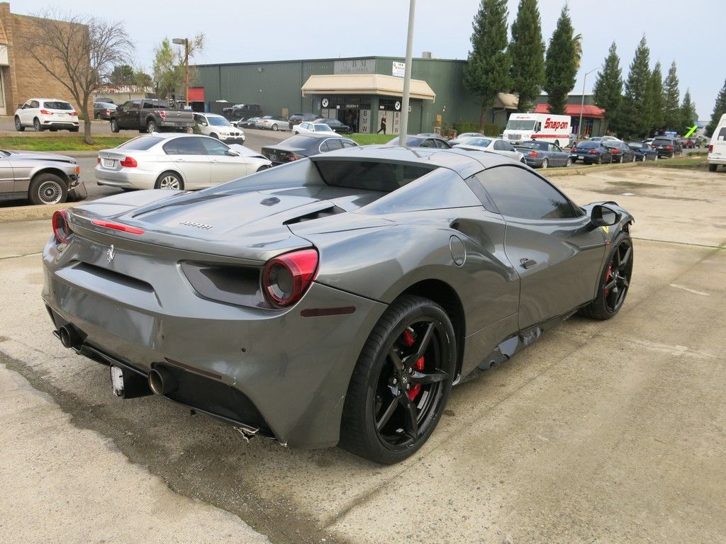 low miles 2016 Ferrari 488 Spider 3.9L V8 repairable