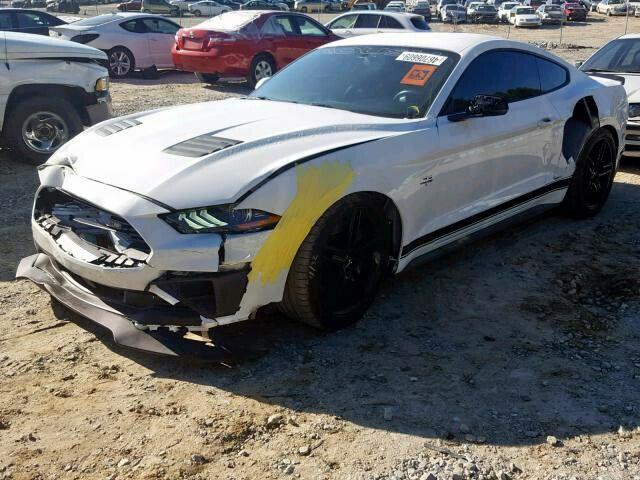 low miles 2018 Ford Mustang GT Premium repairable