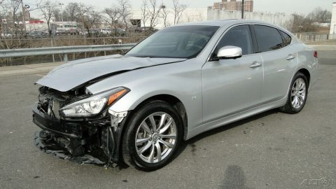 low mileage 2017 Infiniti Q70 3.7L V6 repairable for sale