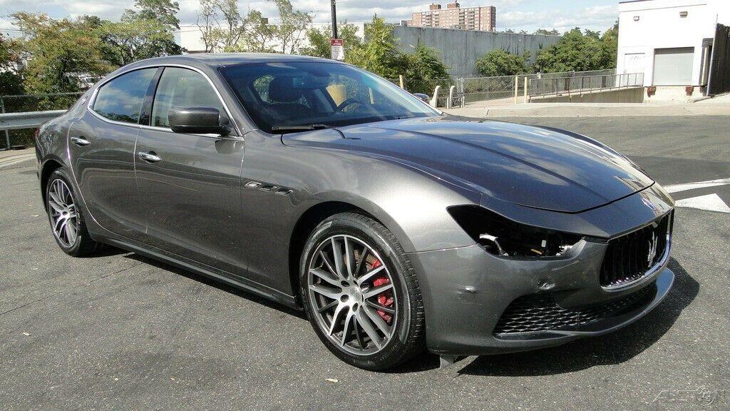 low miles 2016 Maserati Ghibli S Q4 3.0L V6 Twin Turbocharger repairable
