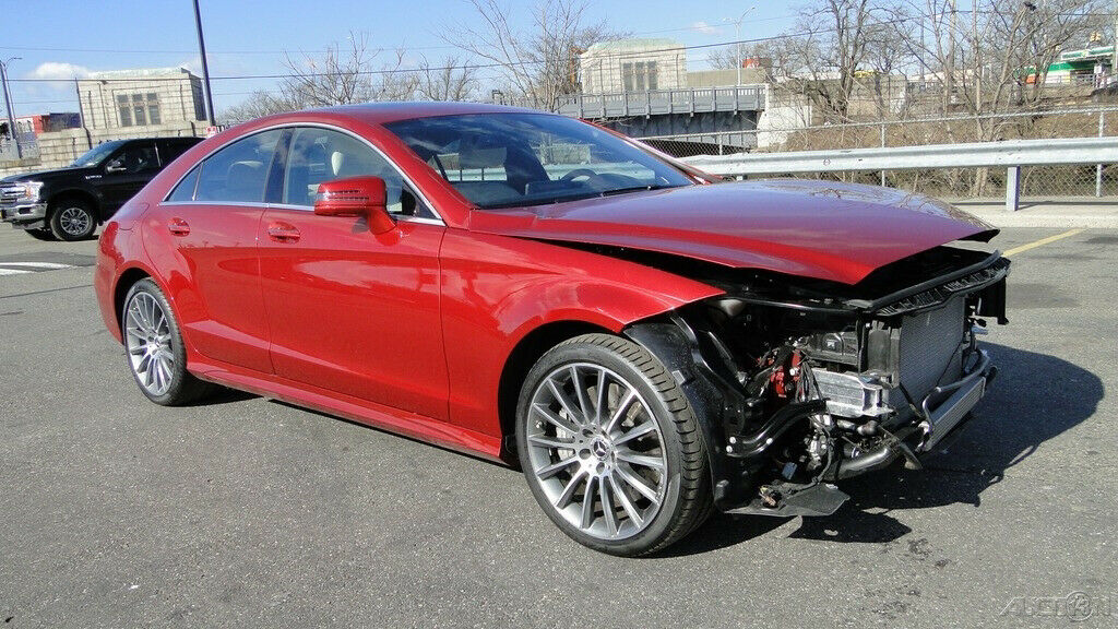 very low miles 2017 Mercedes Benz CLS Class CLS 550 repairable