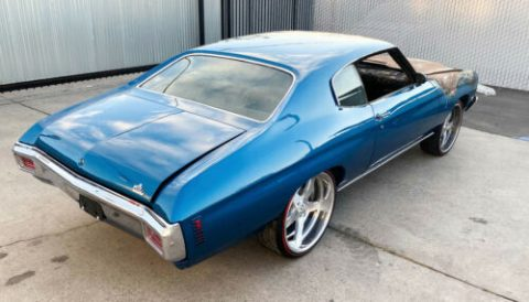 burned out 1970 Chevrolet Chevelle repairable for sale