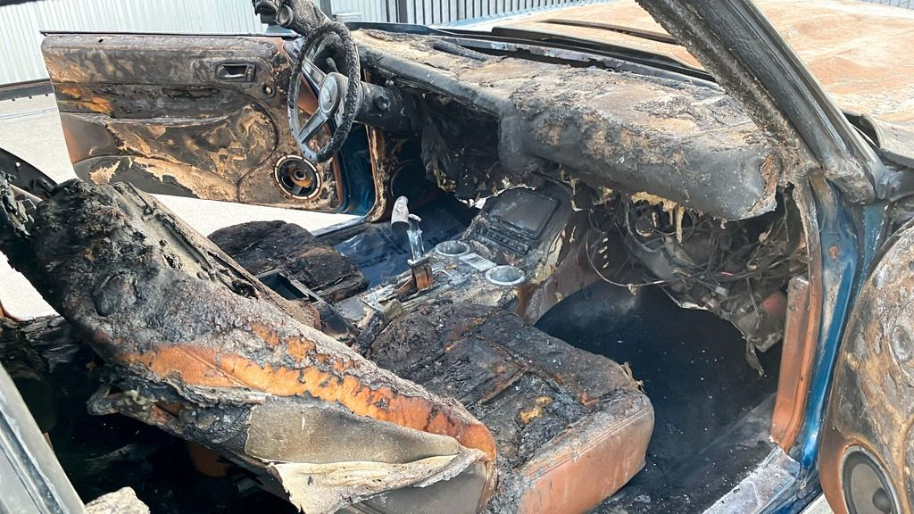 burned out 1970 Chevrolet Chevelle repairable