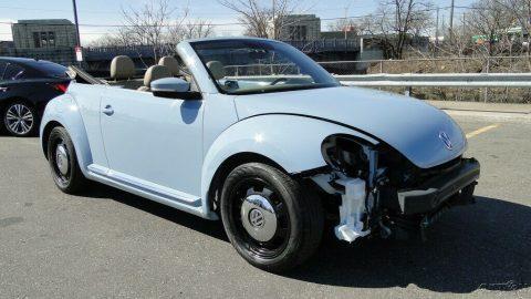 low miles 2013 Volkswagen Beetle Convertible repairable for sale