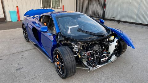 very low miles 2016 Mclaren 675lt Spider V8 Twin Turbo repairable for sale