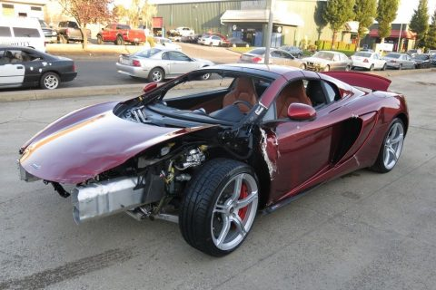 low miles 2015 Mclaren 650S S Spider repairable for sale