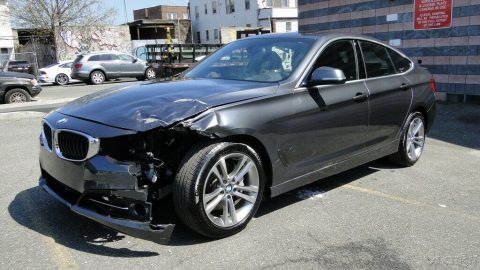 low miles 2018 BMW 3 Series i xDrive repairable for sale