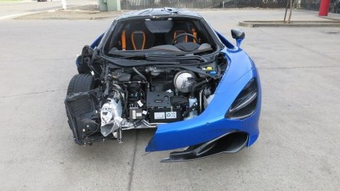 low miles 2018 Mclaren 720S Twin Turbo repairable for sale