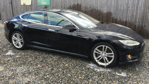 rear damage 2012 Tesla Model S 85 repairable for sale