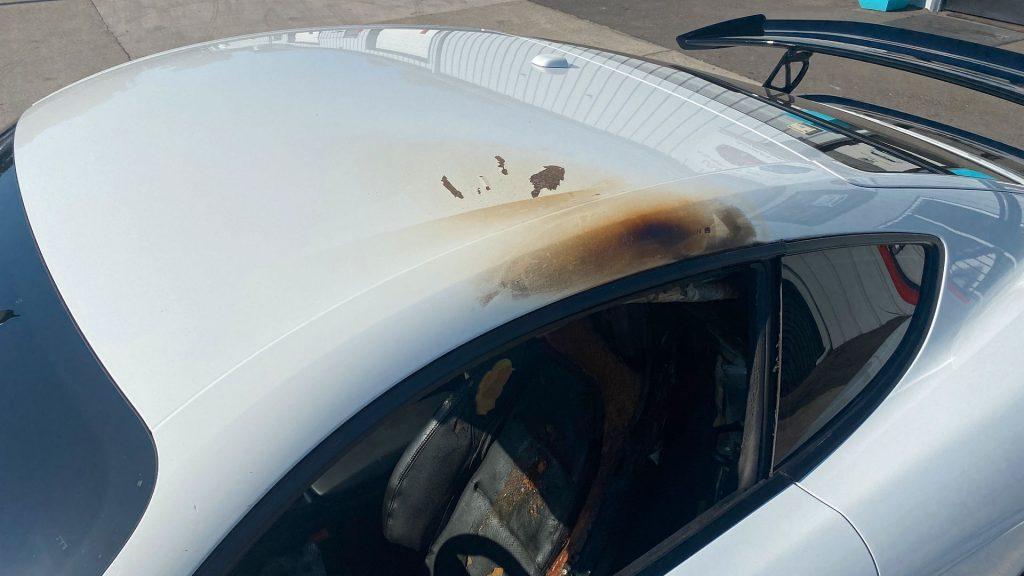 fire damage 2018 Porsche Cayman 718 repairable