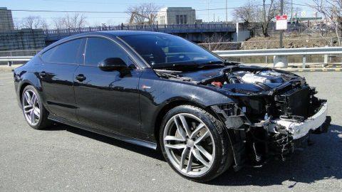 front damage 2015 Audi A7 3.0T Premium Plus repairable for sale
