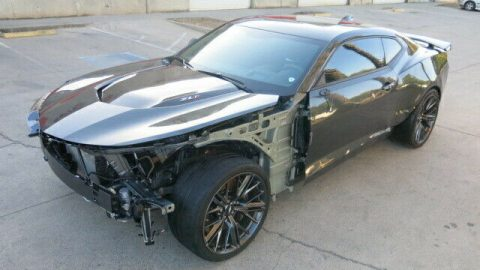 fully loaded 2017 Chevrolet Camaro ZL1 repairable for sale