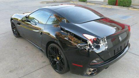 light damage 2010 Ferrari California Hard top Convertible repairable for sale